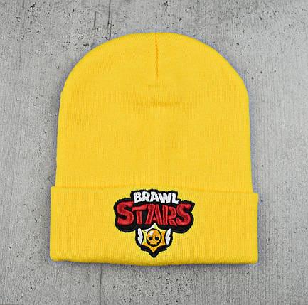 Шапка Brawl Stars / Бравл Старс - молодежная шапка-лопата с отворотом, фото 2
