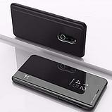 Комплект стекло на дисплей + Зеркальный Smart чехол-книжка Mirror для Xiaomi Redmi 8 /, фото 6