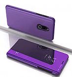 Комплект стекло на дисплей + Зеркальный Smart чехол-книжка Mirror для Xiaomi Redmi 8 /, фото 7