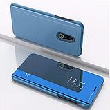 Комплект стекло на дисплей + Зеркальный Smart чехол-книжка Mirror для Xiaomi Redmi 8 /, фото 8