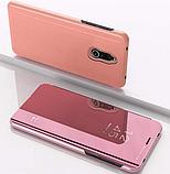 Комплект стекло на дисплей + Зеркальный Smart чехол-книжка Mirror для Xiaomi Redmi 8 /, фото 9