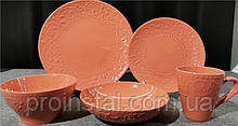 Тарелка суповая Ardesto Olbia, 20 см, Deep orange, керамика