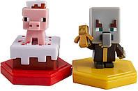 Набор мини-фигурок Майнкрафт Поросенок и бессмертный Эвокер Mattel Minecraft Earth Boost Mini