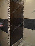 Стеклянные душевые двери из тонированного (коричневое, серое) стекла, фото 2