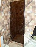 Стеклянные душевые двери из тонированного (коричневое, серое) стекла, фото 4