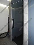 Стеклянные душевые двери из тонированного (коричневое, серое) стекла, фото 5