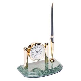 Підставка для ручки з годинником 16х10 BST 540016 Мармурова