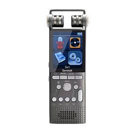 Цифровой стерео диктофон Savetek GS-R06 16 Гб 100 часов записи VOX SD до 64 Гб (02274)