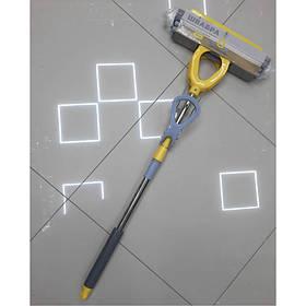 Швабра PVA-насадка 33 см с ручкой телескоп 98-127 см, 2 отжима Eco Fabric EF-3321