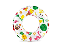 Яркий детский надувной круг для плавания Intex Экзотика диаметр 51 см.
