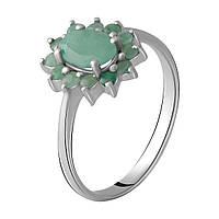Серебряное кольцо DreamJewelry с натуральным изумрудом 1.123ct (1964804) 18 размер, фото 1