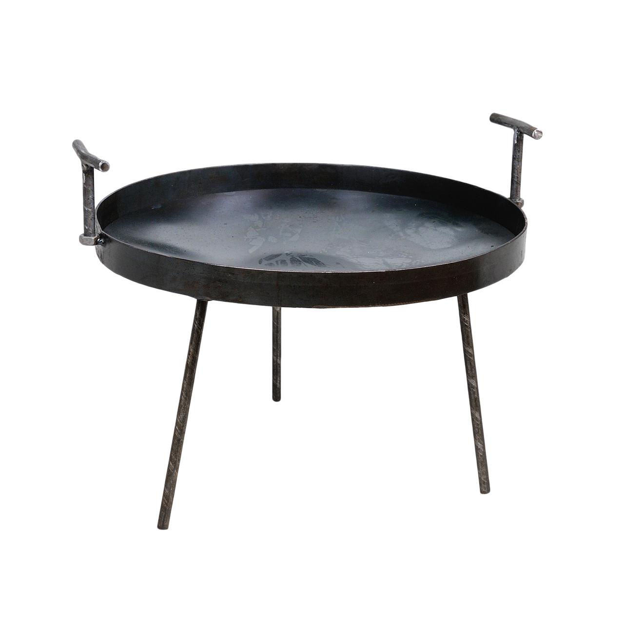 Мангал-сковорода из диска бороны 40 см металлический со съемными ручка