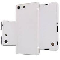 Кожаный чехол Nillkin Qin для Sony Xperia M5 E5633 белый, фото 1