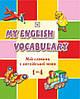 Словник для запису слів з англійської мови. 1-4 класи