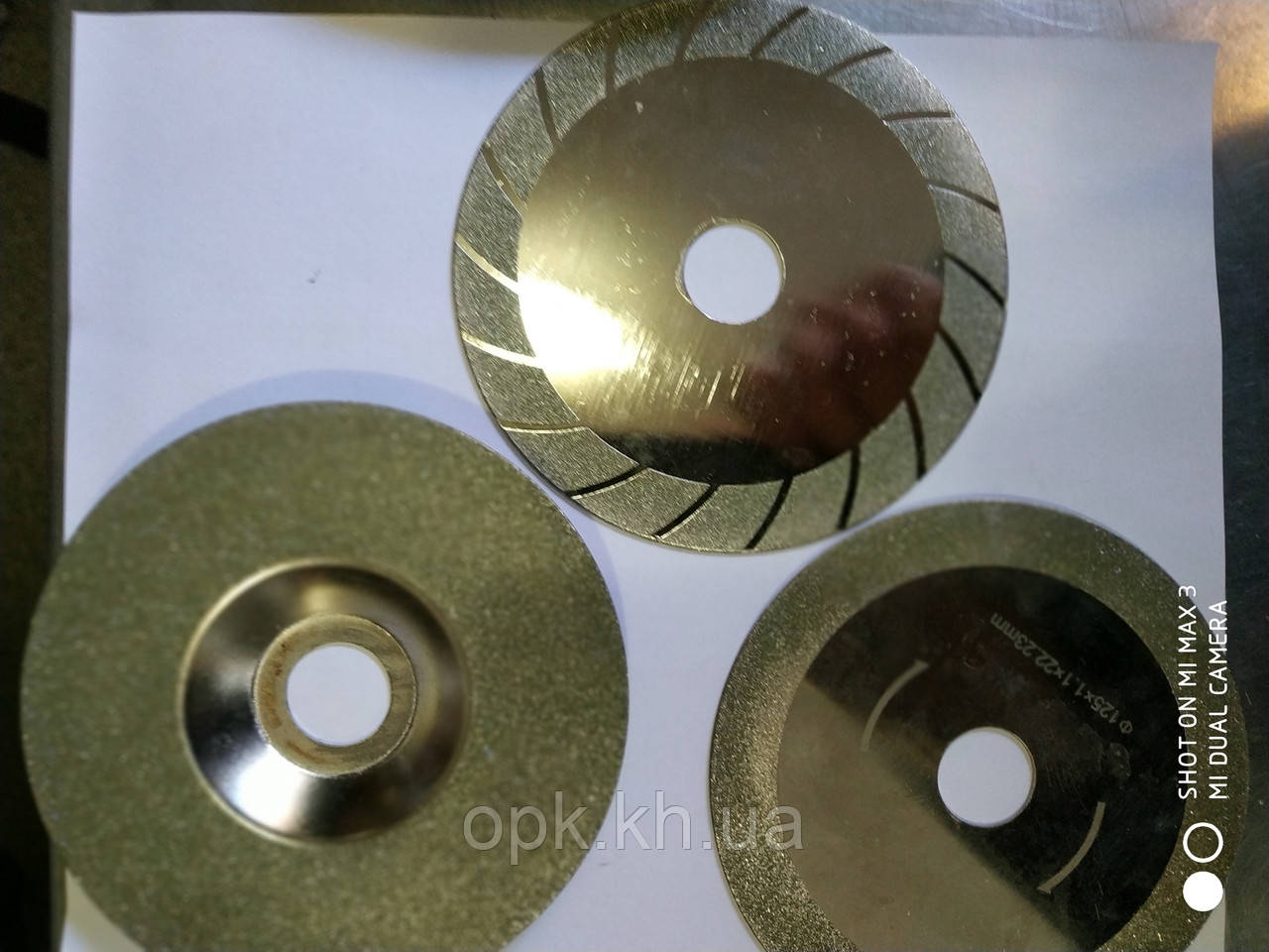 Диск чашка алмазный по стеклу на болгарку УШМ Ø125х1.5х22 мм.