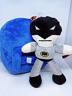 Детский плюшевый рюкзак для мальчиков с игрушкой героев