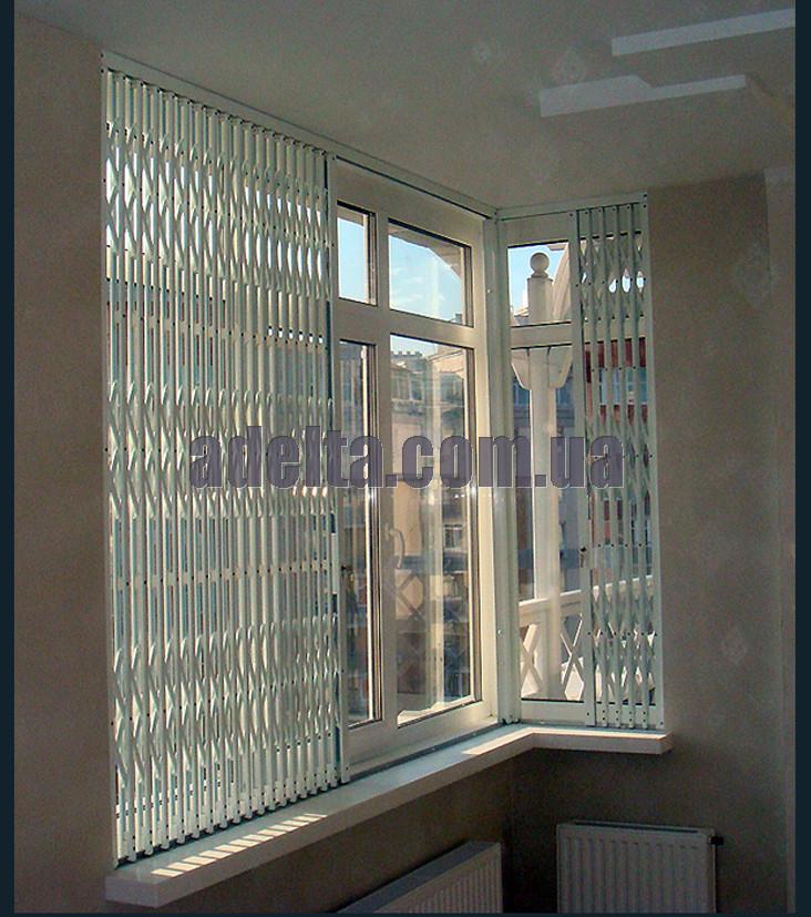 Решетки раздвижные на окна Шир.2200*Выс1950мм