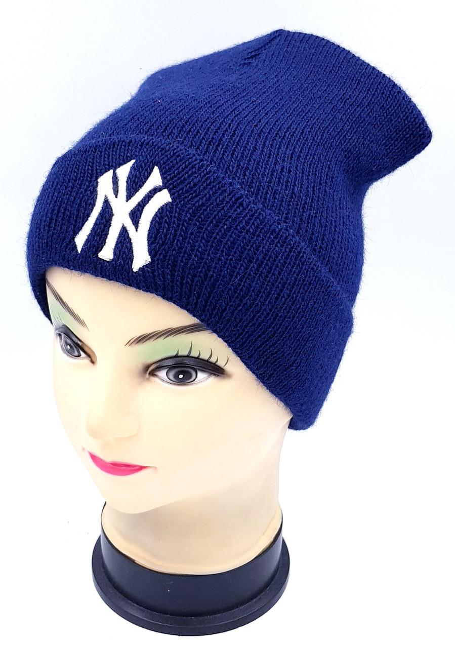 Детская вязаная шапка Klaus Объемная вышивка 53-55см (416-ВА)