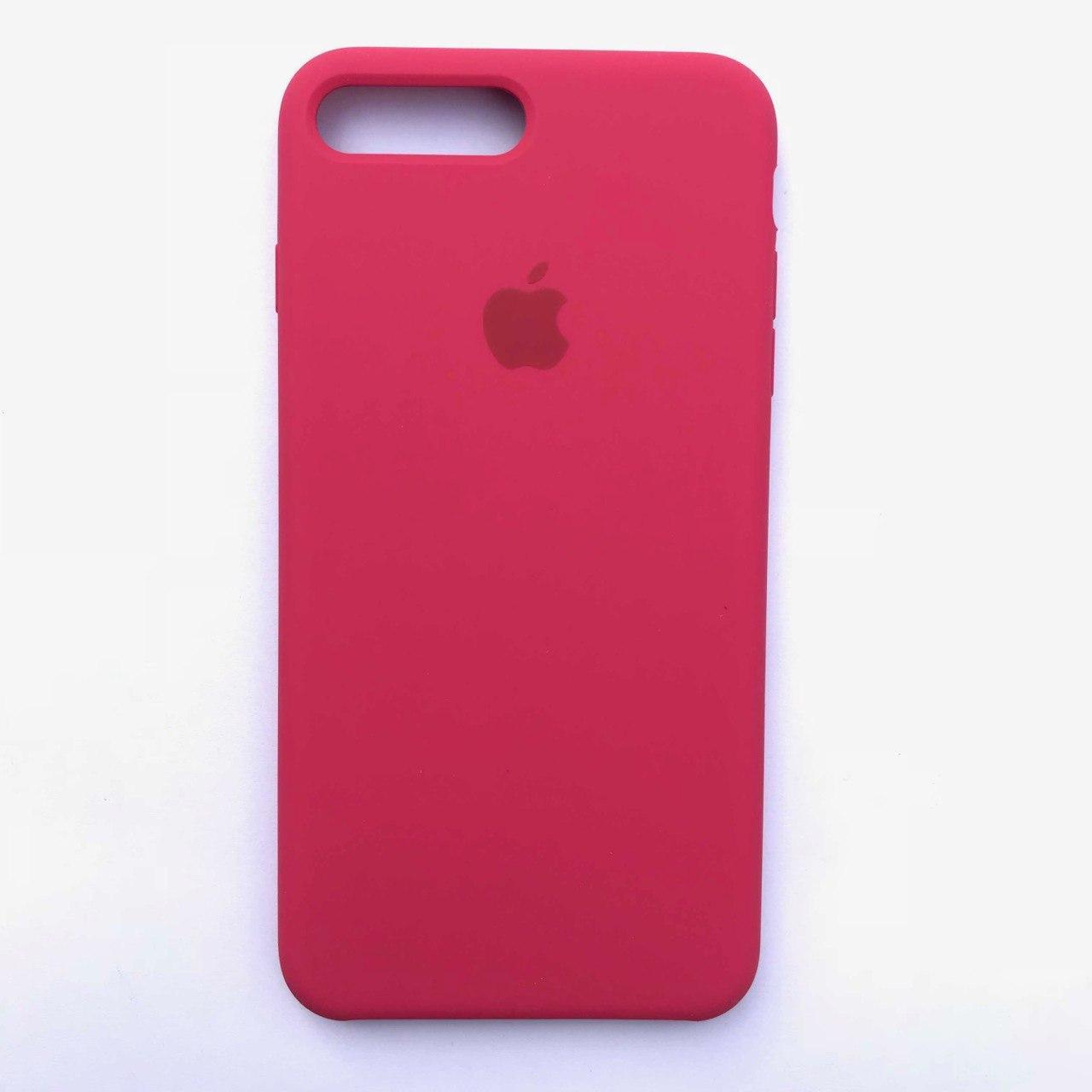 Чехол Silicone Case для Apple iPhone 7 Plus, 8 Plus Raspberry