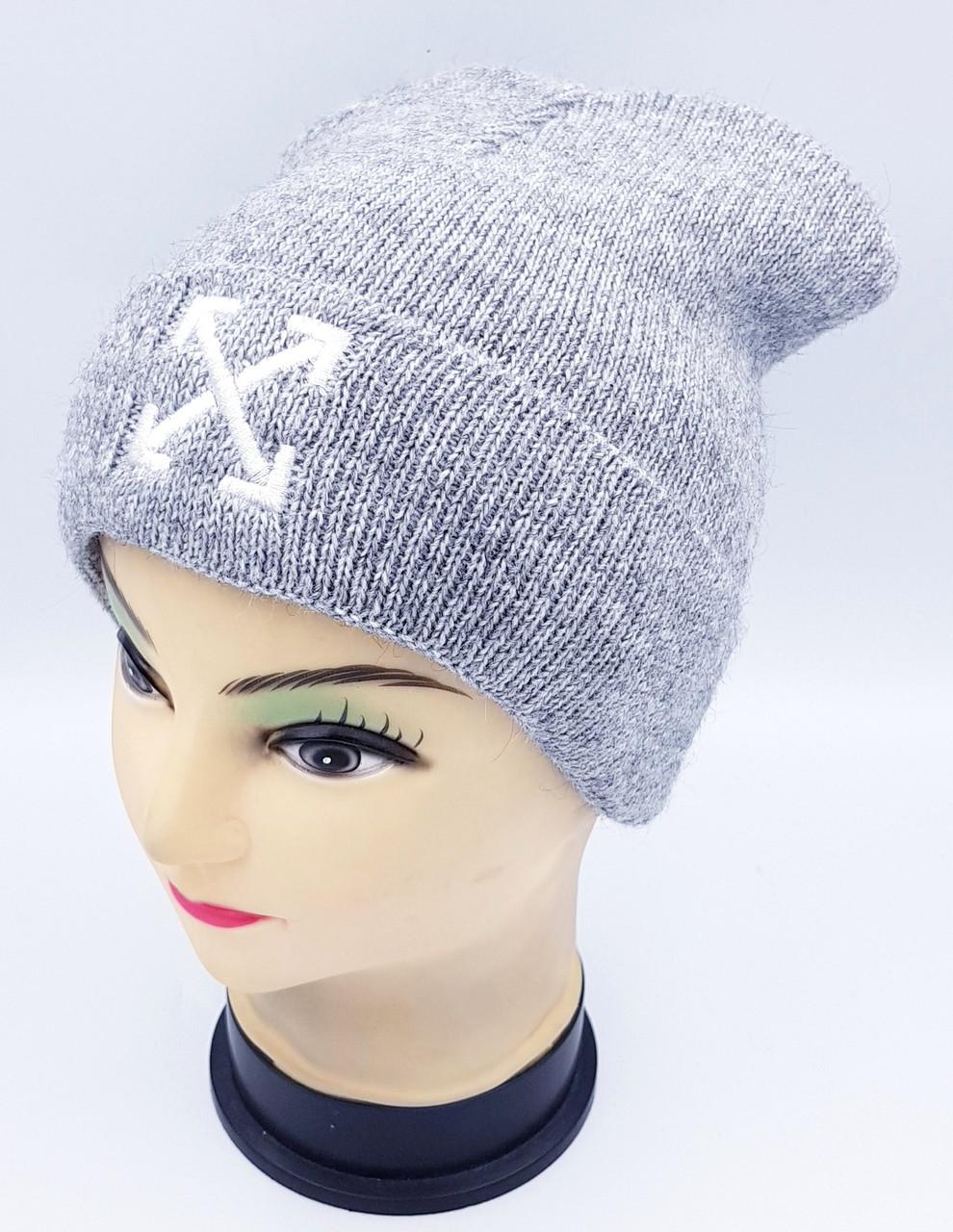 Детская вязаная шапка Klaus Объемная вышивка 53-55см (426-ВА)