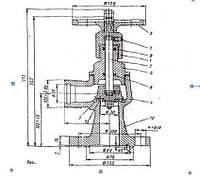 Клапан 22с60р Ду32, Ру25 угловой для обезвоженного аммиака