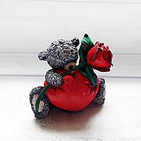 Подарок на 14 февраля день валентина Интерьерная фигурка Влюбленный Тедди, фото 1