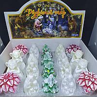 Свечи декоративные НГ Рождественский набор 7,5*6 см