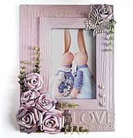 """Фоторамка для фото """"LOVE"""" Подарунок дівчині на 14 лютого день закоханих Ручна робота"""