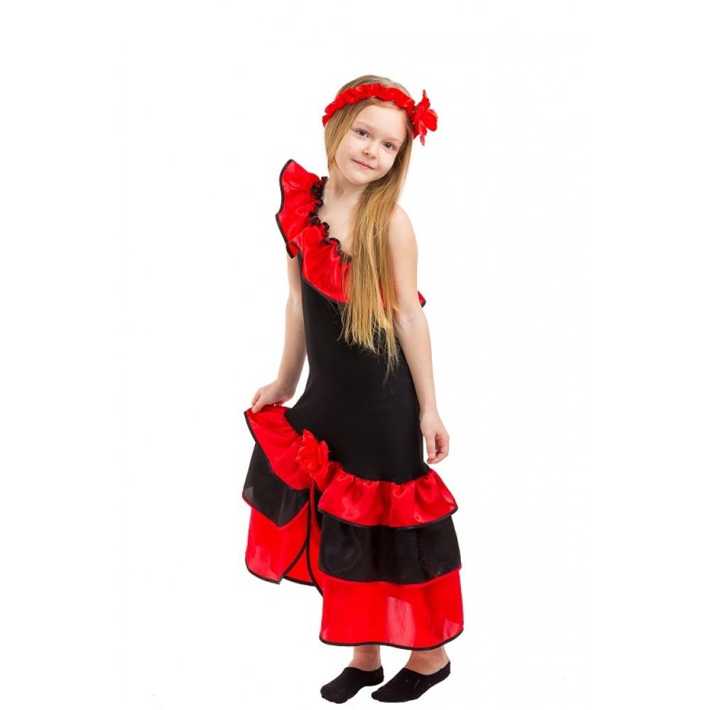 Детский карнавальный костюм Испанки для девочки
