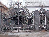 """Эксклюзивные кованые ворота с монокарбонатом. Почтовый ящик в подарок. Покраска эмалью """"Alpina"""""""