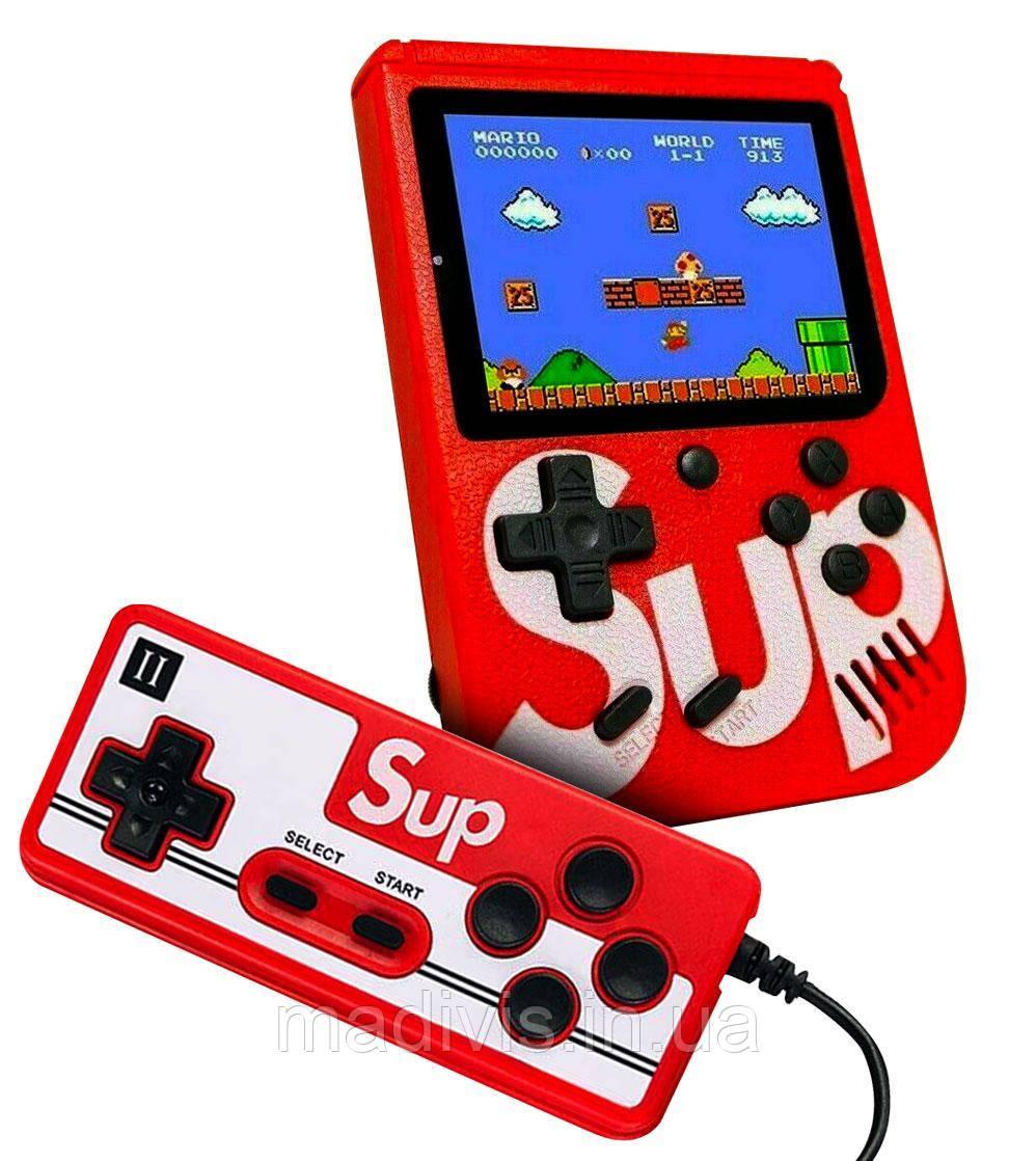 Портативная игровая ретро приставка SUP Game Box + 2-й джойстик 400 игр Dendy 8bit SUP Game Box Red (SUP401)