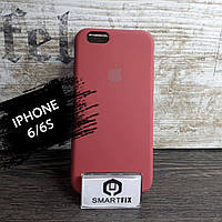 Силиконовый чехол для iPhone 6/6S Soft Бледно-красный
