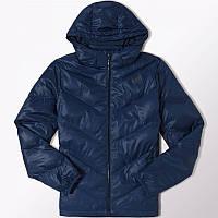 Куртка спортивная adidas SDP JKT Better F95500 (синий, мужская, зима, -20, стеганая, синтепон, логотип адидас)