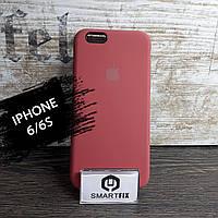 Силиконовый чехол для iPhone 6/6S Soft Бледно-красный, фото 1