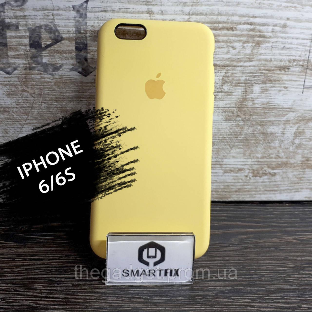 Силиконовый чехол для iPhone 6/6S Soft Желтый