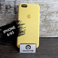 Силиконовый чехол для iPhone 6/6S Soft Желтый, фото 1