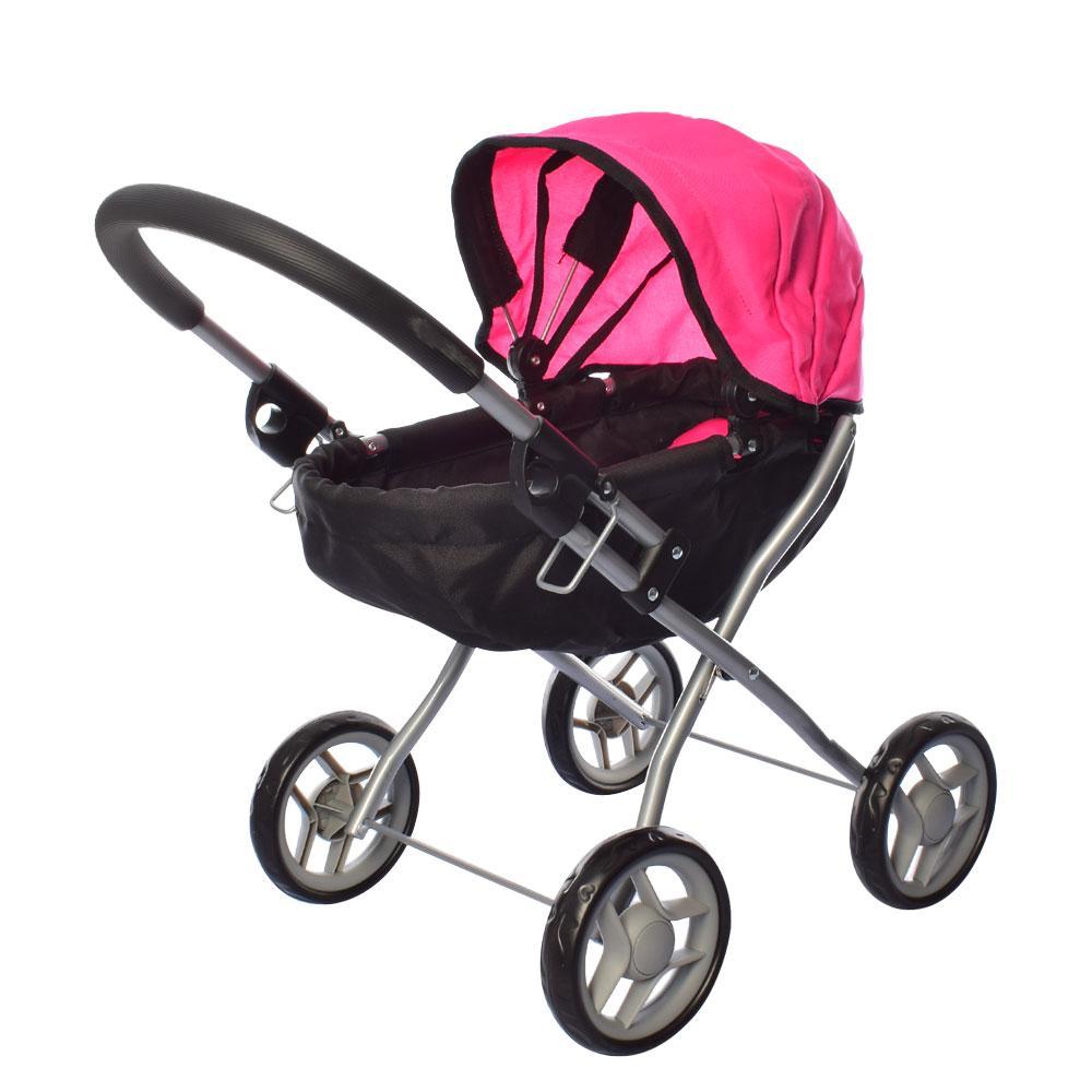 Коляска для куклы 9325A-1 Розово-черная