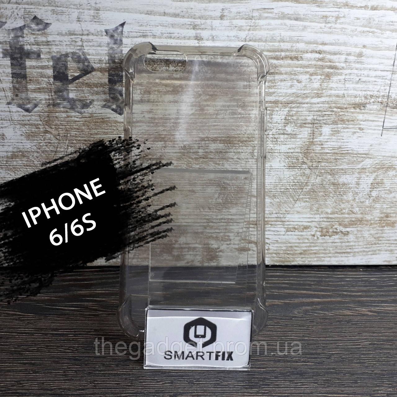 Противоударный силиконовый чехол для iPhone 6/6S WDX Прозрачный