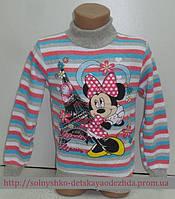 Гольф на девочку в красную полоску (Микки) 4-6 лет