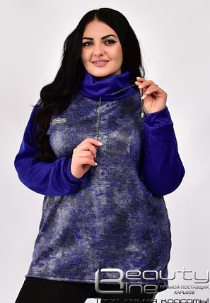 Жіноча туніка-гольф великого розміру, розміри: 50-52. 54-56. 58-60. 62-64, фото 2