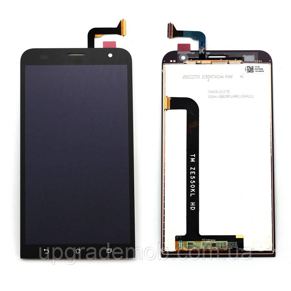 Дисплей Asus ZenFone 2 Laser ZE550KL тачскрин модуль черный