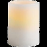 """Воскова """"Свічка Шарп"""" з LED-підсвіткою 1х0,09W LED 7,5х10см біла"""