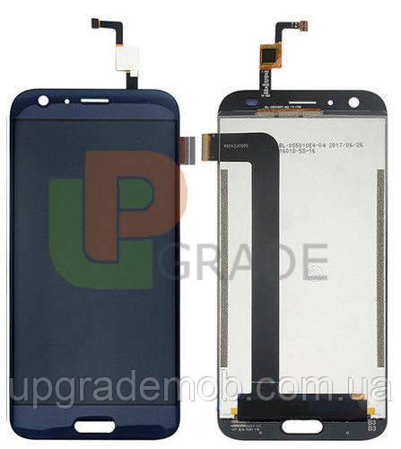 Дисплей Doogee BL5000 с тачскрином модуль сенсор, синий, оригинал