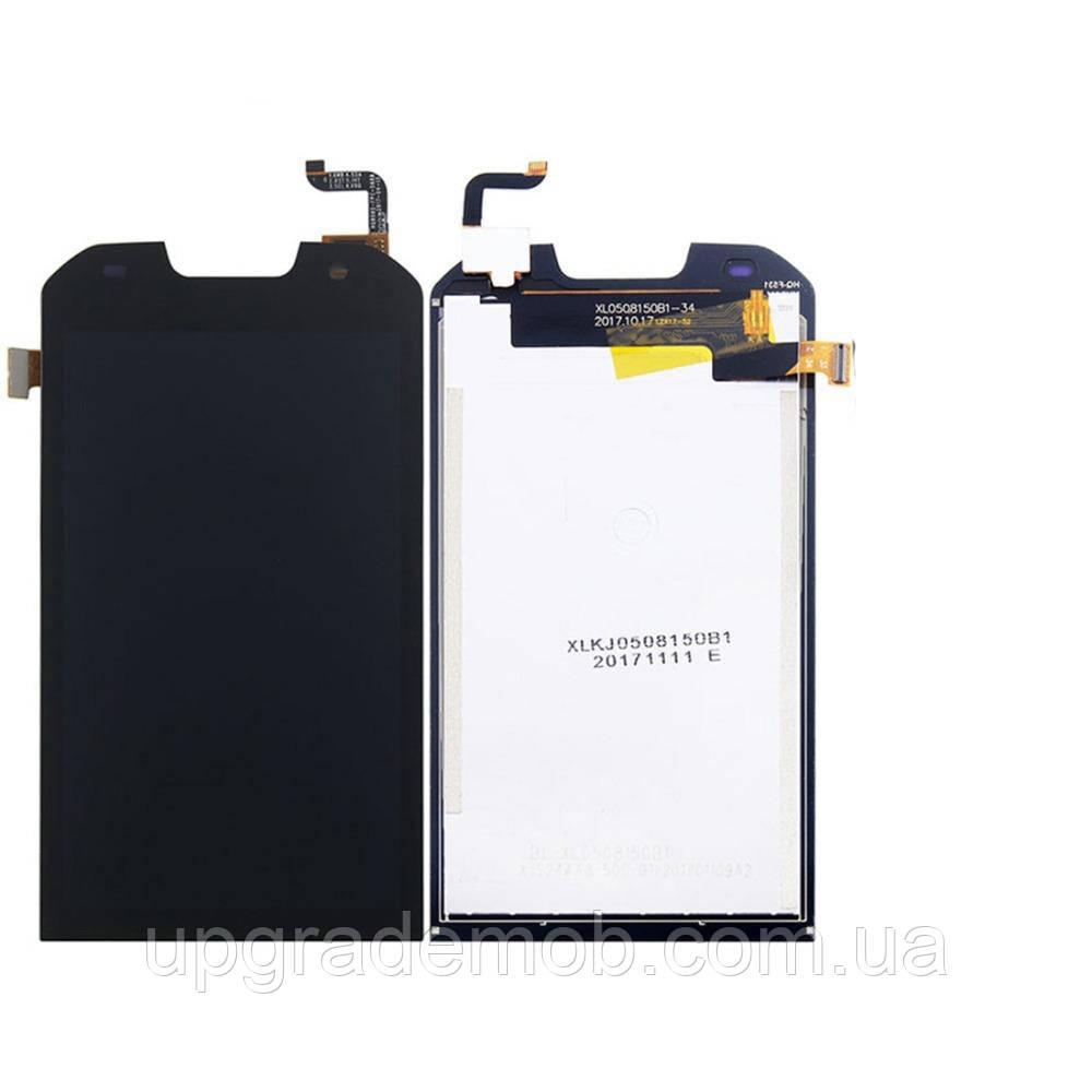 Дисплей Doogee S30 тачскрин модуль черный