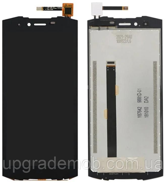 Дисплей Doogee S55/S55 Lite тачскрин сенсор, черный