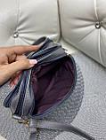 Клатч комбинированный натуральная замша/кожзам, фото 5