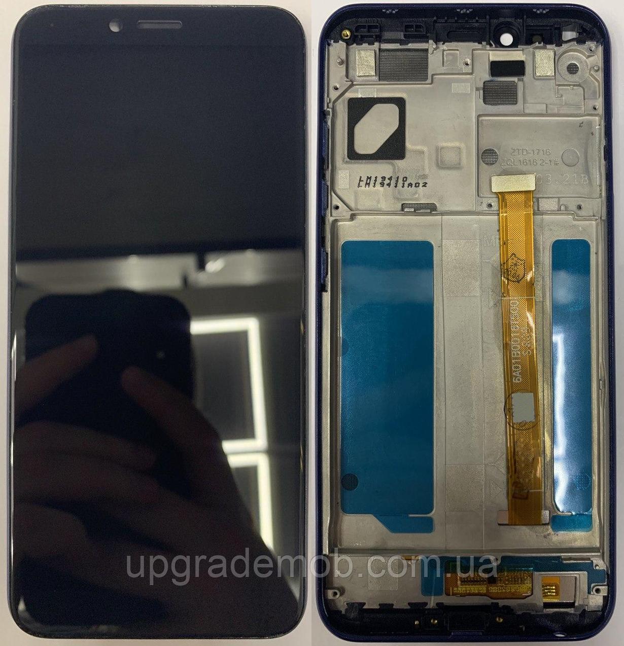 Дисплей Lenovo K5 Play с тачскрином модуль сенсор, черный, в рамке синего цвета
