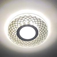 Встраиваемый светодиодный светильник Feron CD833 с LED подсветкой точечный