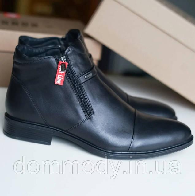 Ботинки мужские из кожи Business зимние