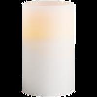 """Воскова """"Свічка Шарп"""" з LED-підсвіткою 1х0,09W LED 7,5х12,5см біла"""